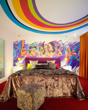 Jimi Hendrix suite at the Cumberland Hotel, London